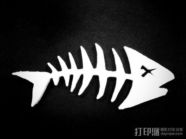 鱼骨  3D模型  图2