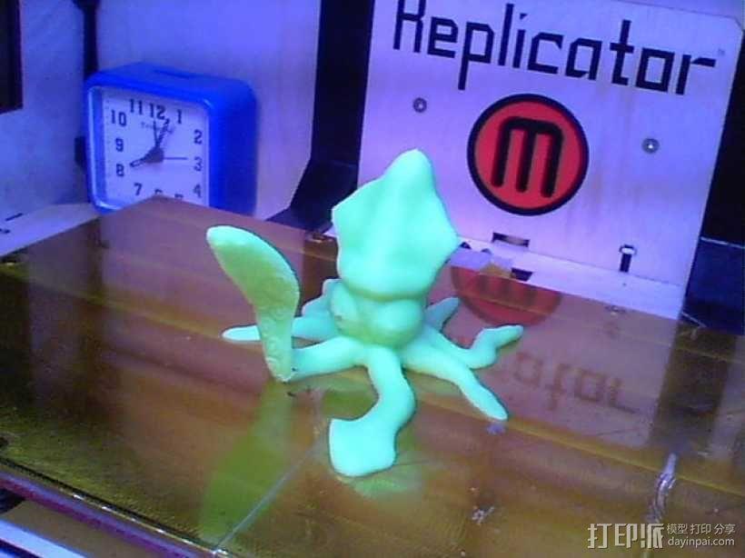 问好的鱿鱼 3D模型  图2