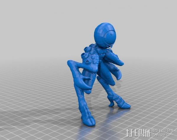 Occulo Sapient外星人 3D模型  图1