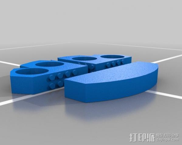 可折叠的指环套  3D模型  图2