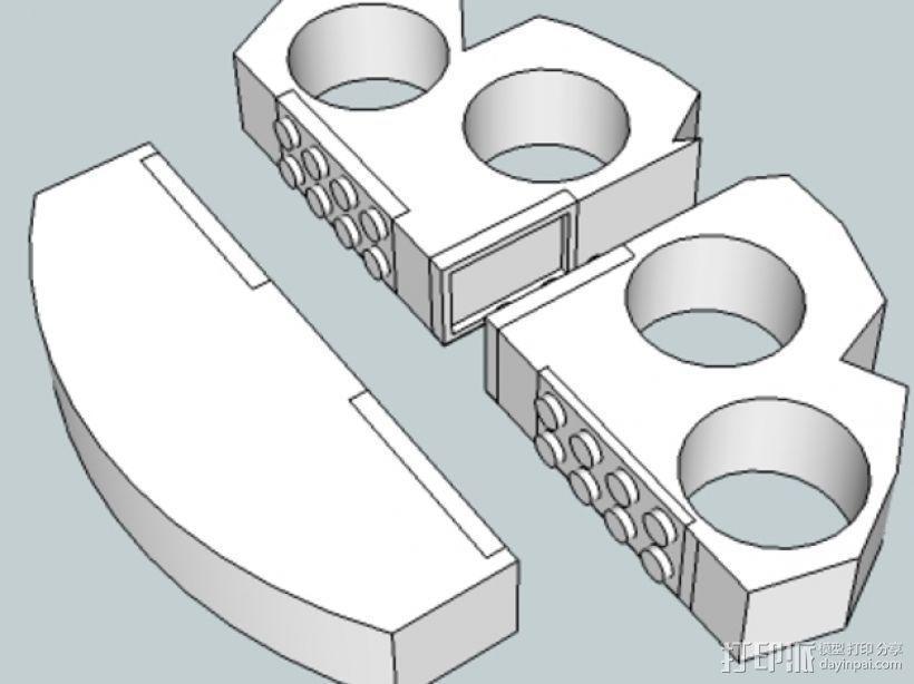 可折叠的指环套  3D模型  图1