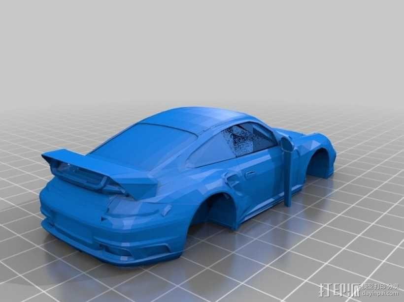 Porsche 911 Turbo保时捷跑车  3D模型  图1