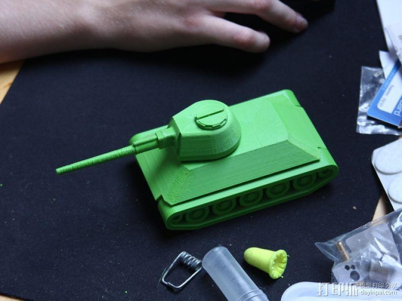 T-34坦克 3D模型  图1
