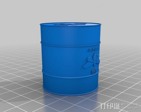化学桶 3D模型  图3