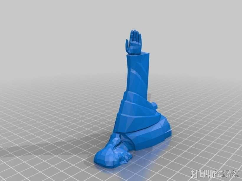 耶稣雕塑 3D模型  图5