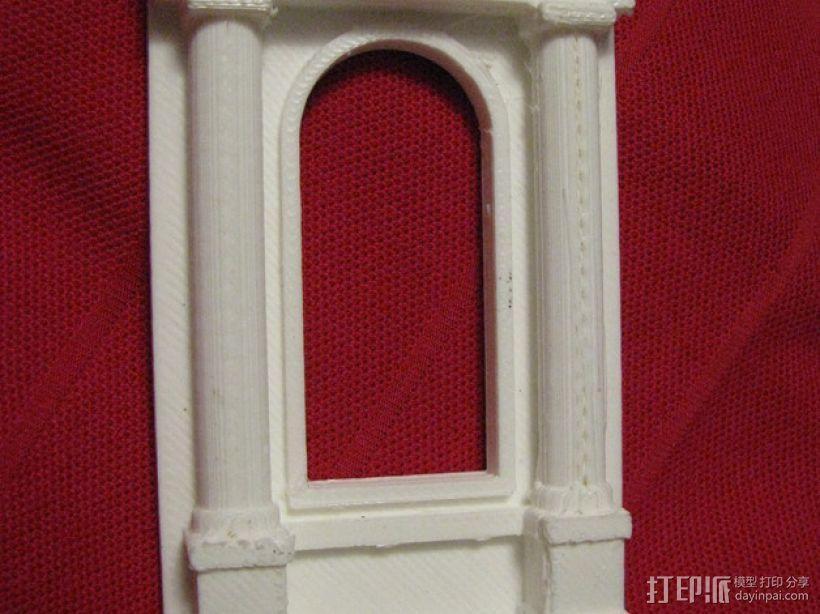 窗户 梁柱 3D模型  图2