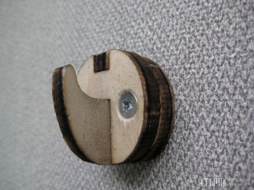 钩子 墙壁挂钩 3D模型  图1