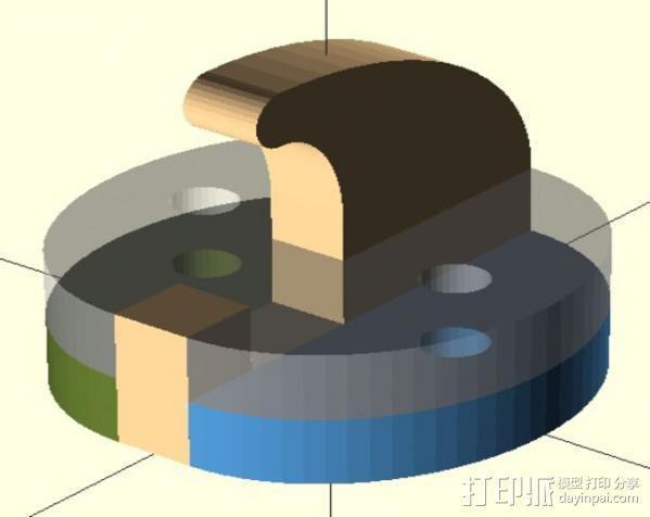 钩子 墙壁挂钩 3D模型  图3