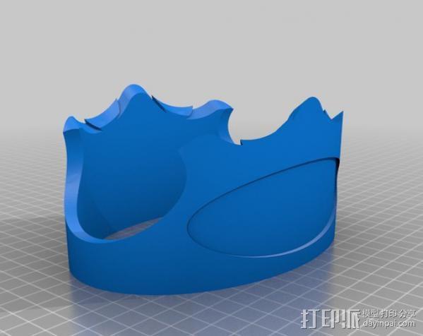 V8发动机底座支架 展示架  3D模型  图4