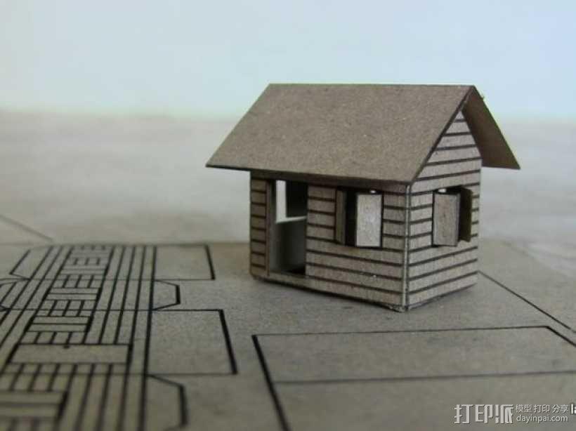 纸板房屋 3D模型  图2