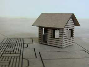 纸板房屋 3D模型
