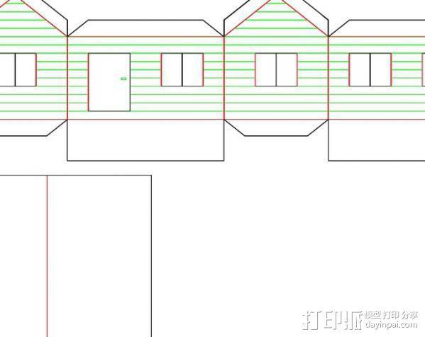 纸板房屋 3D模型  图1