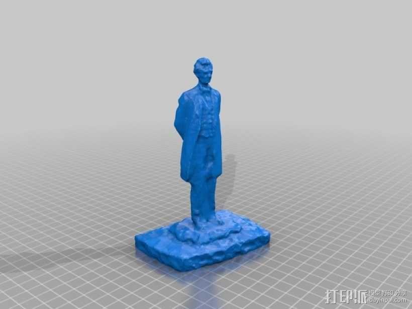 亚伯拉罕林肯雕塑 3D模型  图1