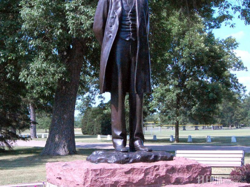 亚伯拉罕林肯雕塑 3D模型  图3