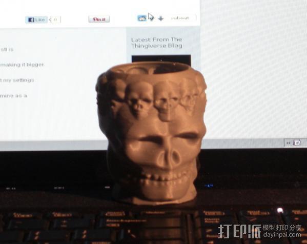 骷髅王  头骨  3D模型  图3