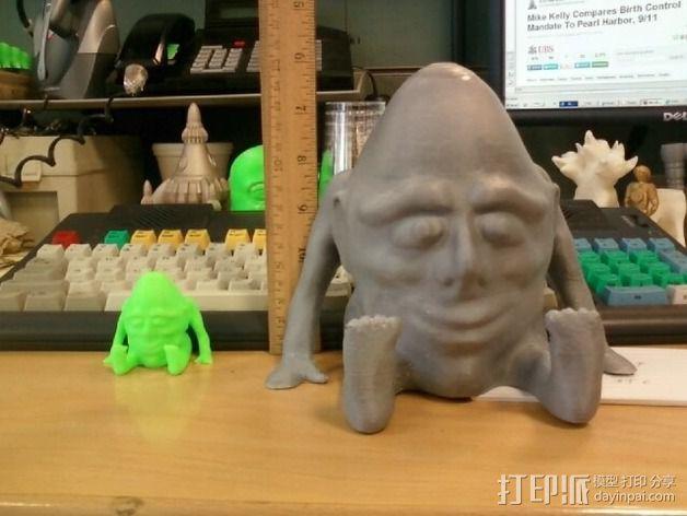 矮胖子 3D模型  图3