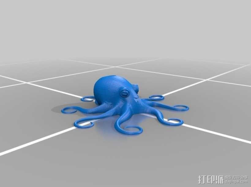 章鱼博士 3D模型  图2