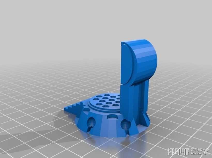 传送台  3D模型  图3