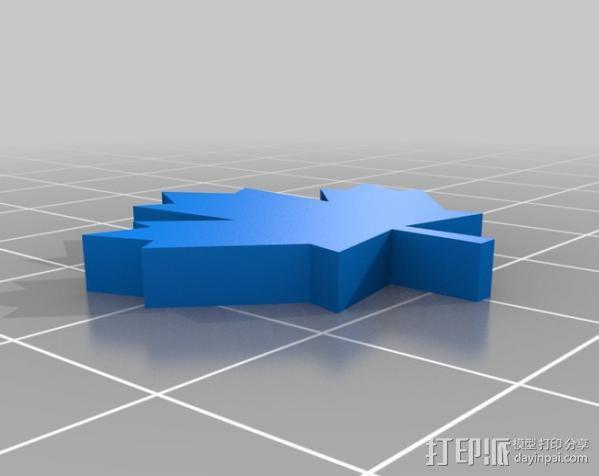 加拿大国旗 3D模型  图2