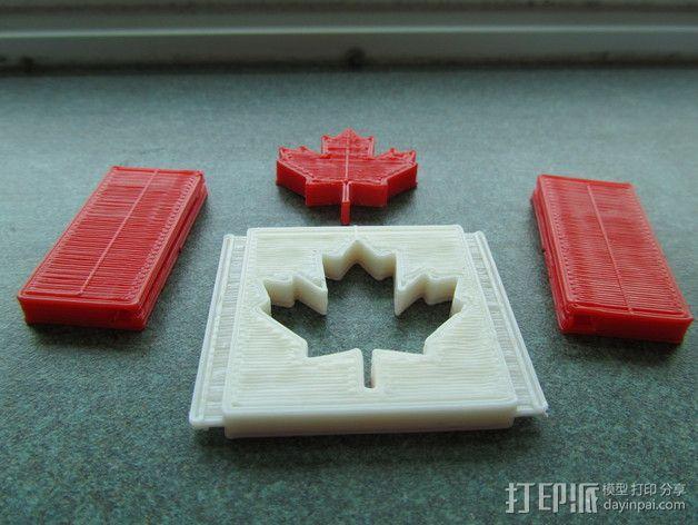 加拿大国旗 3D模型  图4