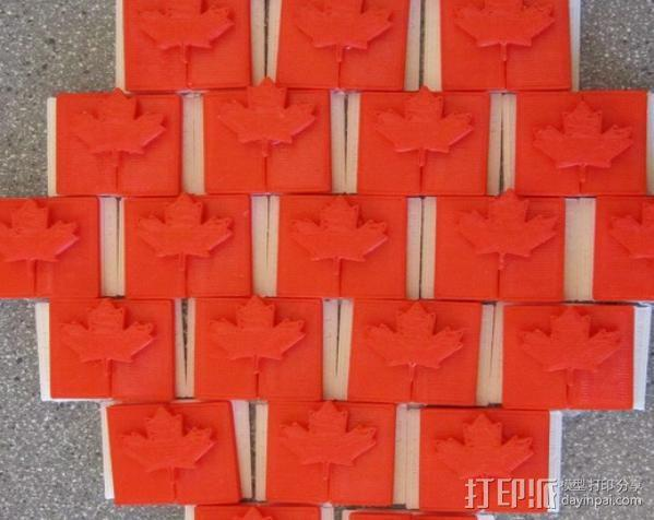 加拿大国旗 3D模型  图6