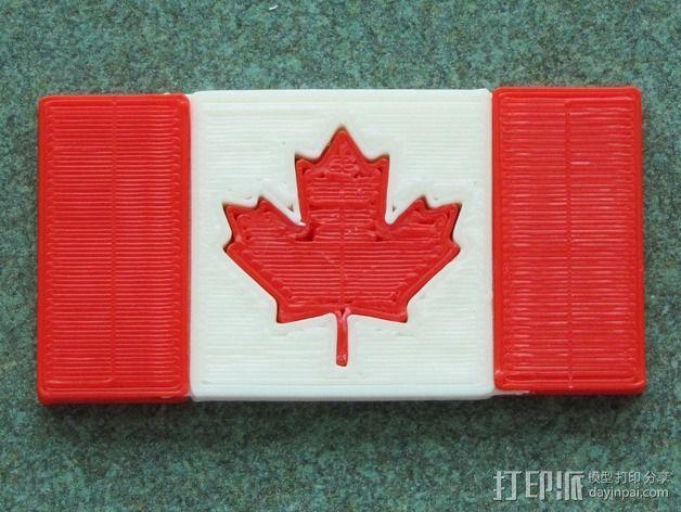加拿大国旗 3D模型  图5