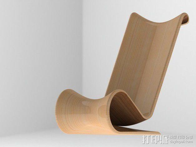 曲线椅子  3D模型  图2
