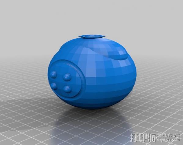 等离子手榴弹 3D模型  图1