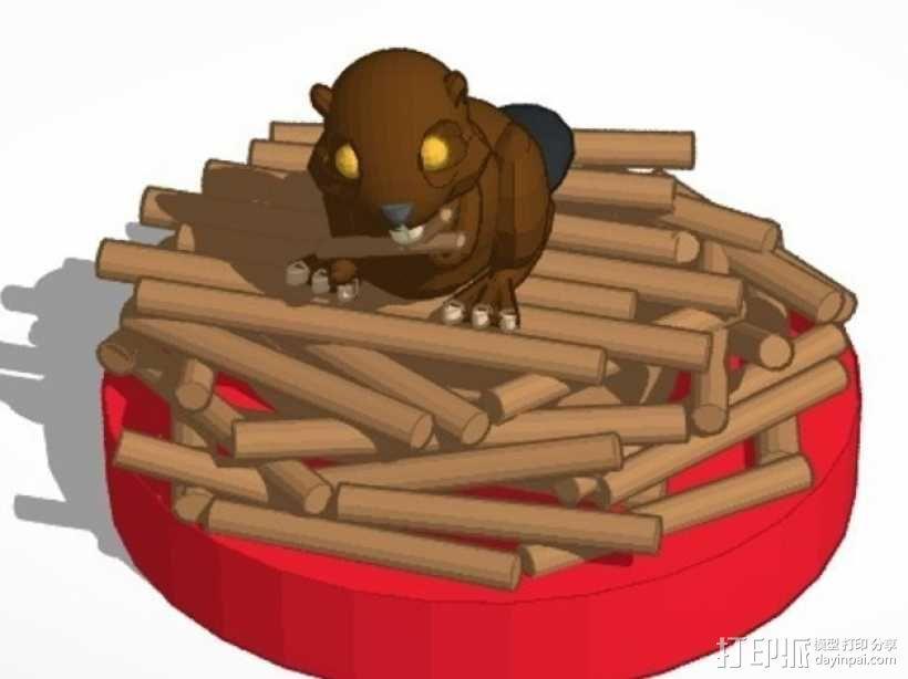 海狸起司蛋糕 3D模型  图1