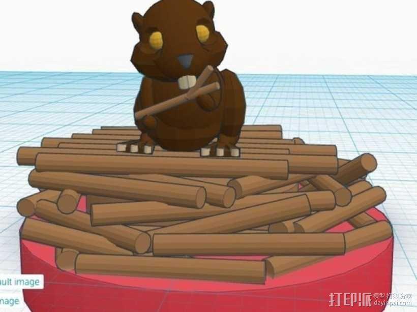 海狸起司蛋糕 3D模型  图2