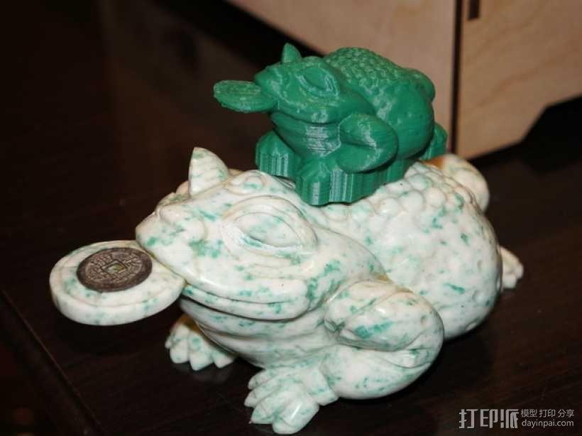 三条腿的蟾蜍 3D模型  图2