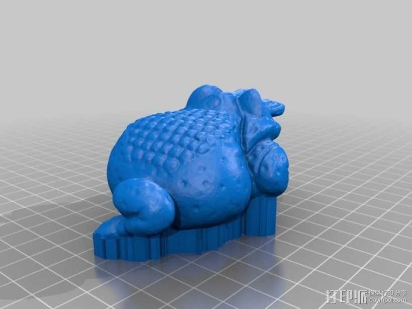 三条腿的蟾蜍 3D模型  图1