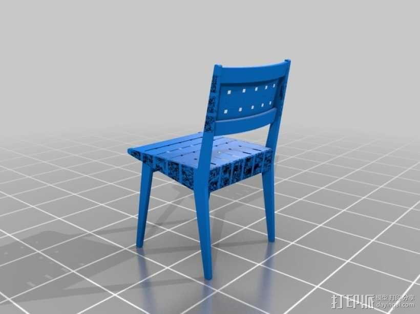 餐椅 椅子  3D模型  图1