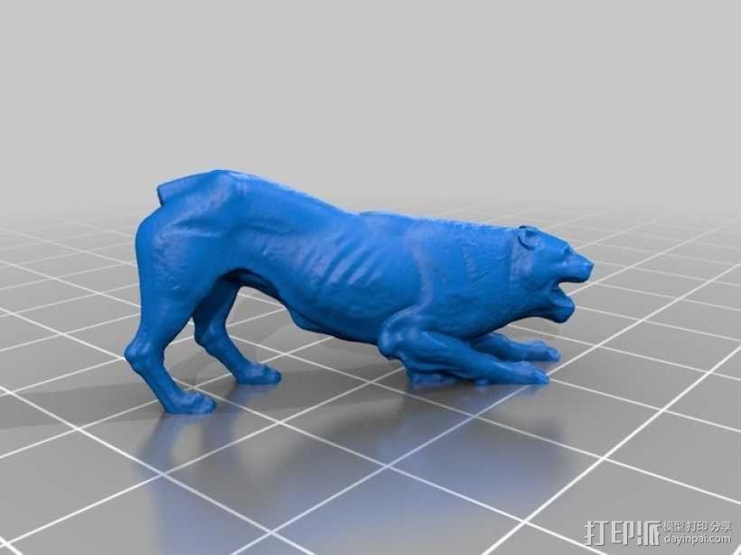 狮子大理石雕塑  3D模型  图3