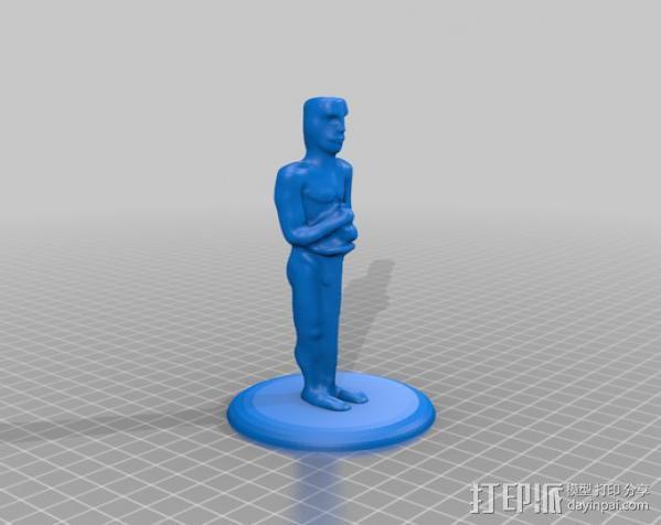 奥斯卡金像 3D模型  图1