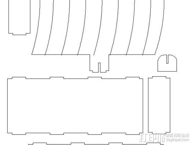 维京海盗船 3D模型  图1