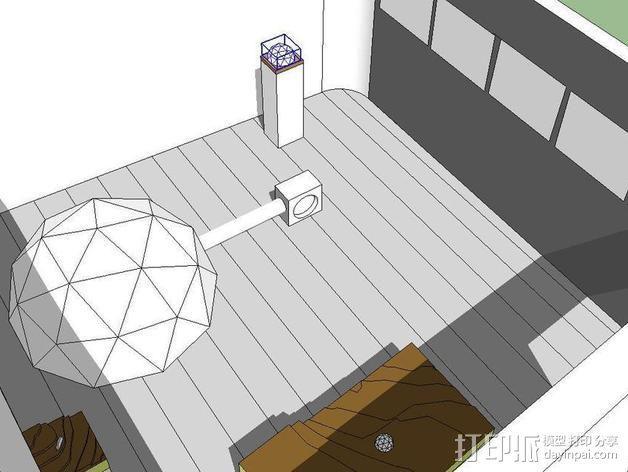 网格状圆顶建筑结构 3D模型  图8