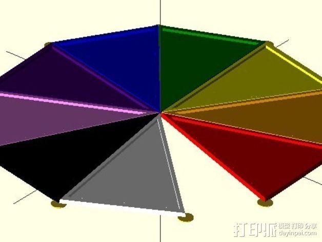 网格状圆顶建筑结构 3D模型  图15