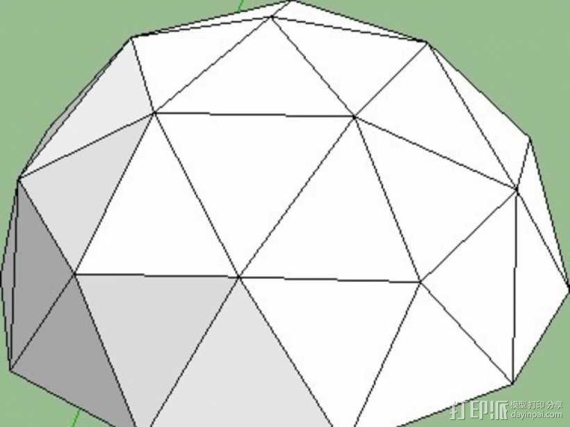网格状圆顶建筑结构 3D模型  图17