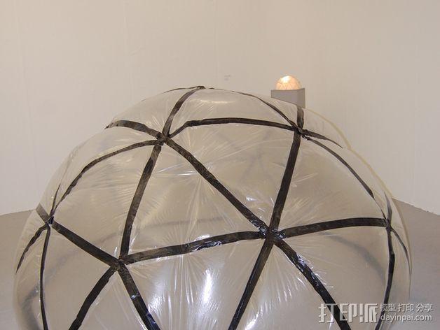 网格状圆顶建筑结构 3D模型  图26