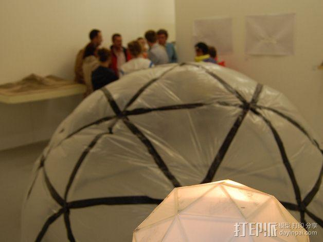 网格状圆顶建筑结构 3D模型  图25