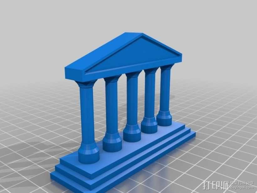 希腊神庙  3D模型  图1