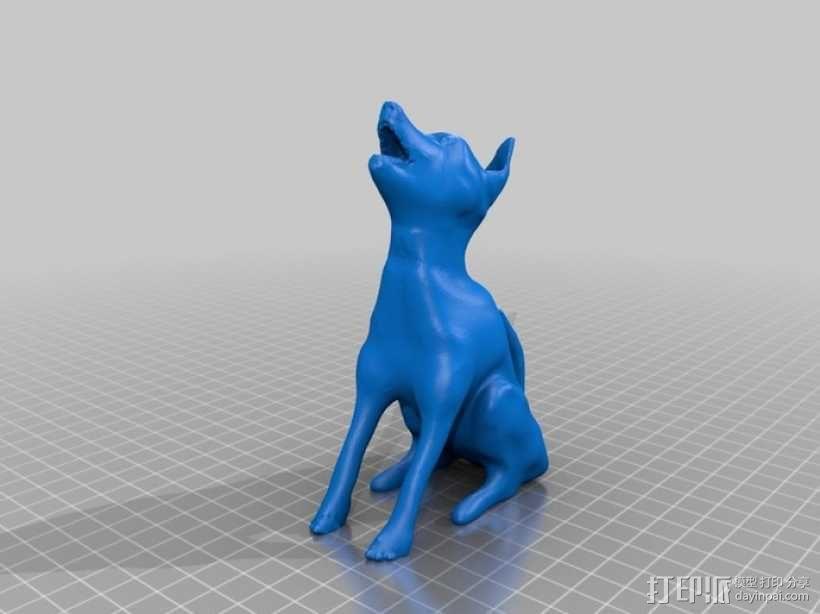 嚎叫的狼 3D模型  图1