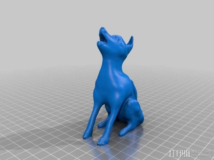 嚎叫的狼 3D模型  图3