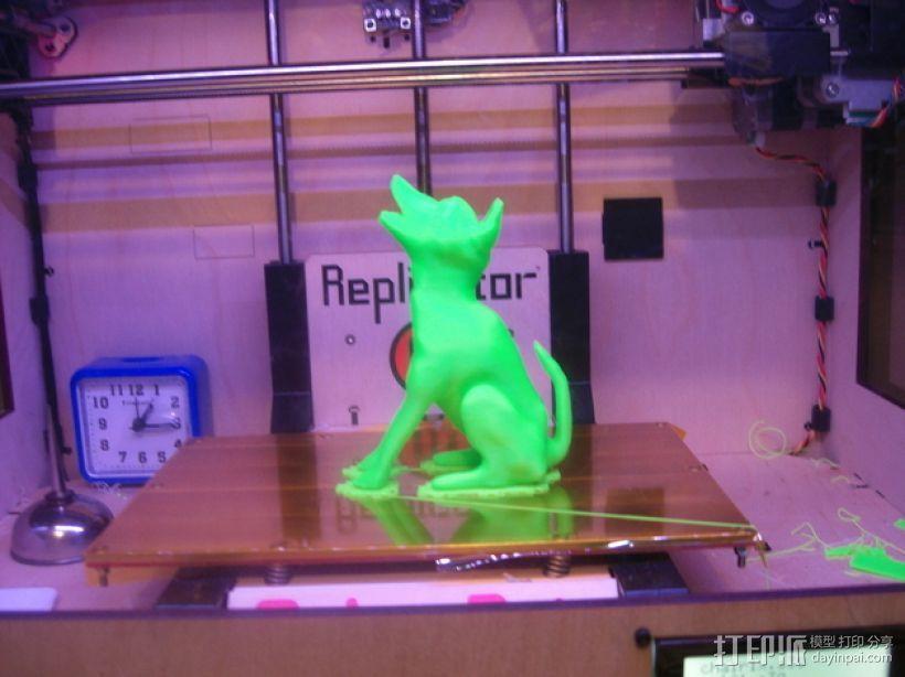 嚎叫的狼 3D模型  图2
