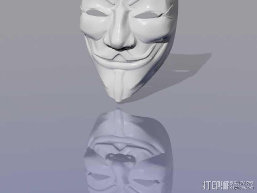 Guy Fawkes盖伊福克斯的面具 3D模型  图4
