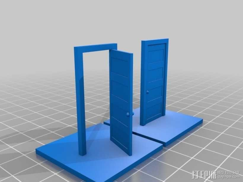 门 门框 3D模型  图2