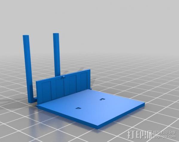 门 门框 3D模型  图3