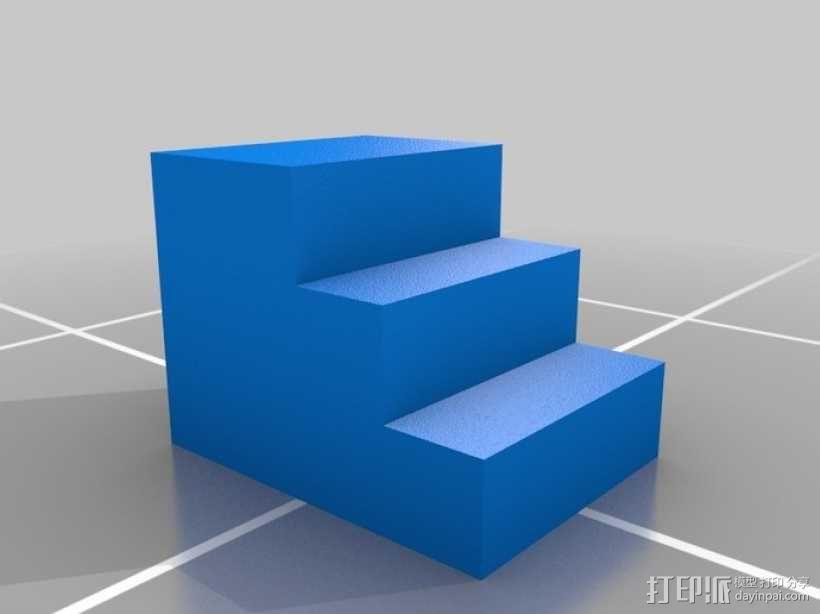 床前凳 楼梯 3D模型  图1