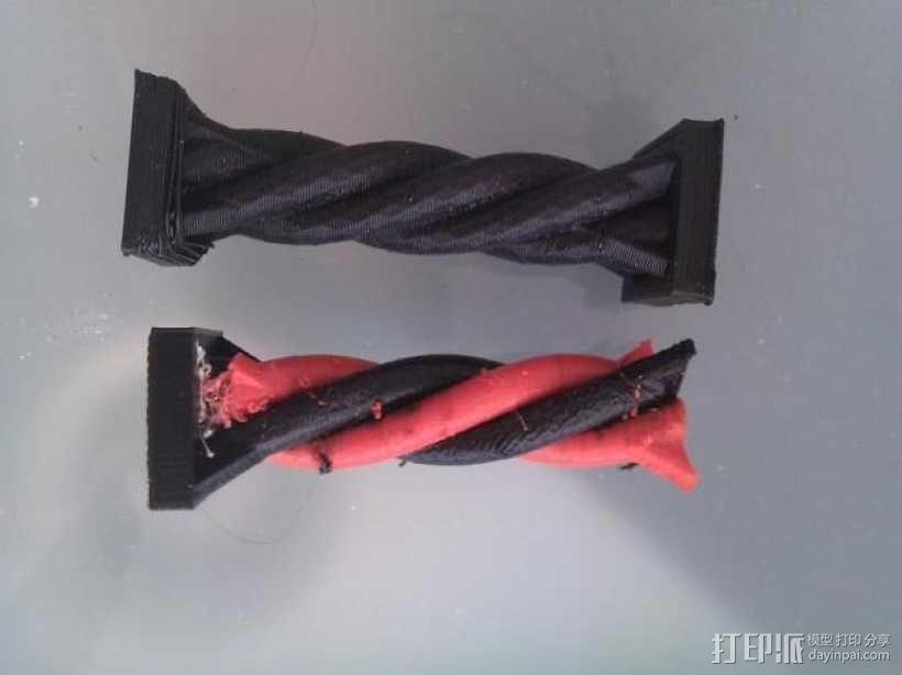 双色螺旋柱 3D模型  图3